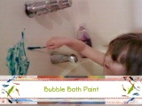 Bubble Bath Finger Paints