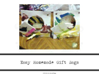 Easy Homemade Gift Bags