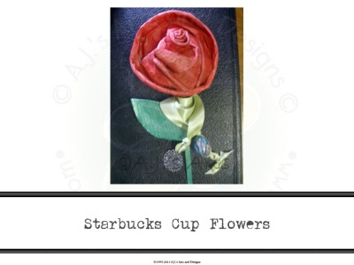 Starbucks Cup Flowers