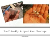 Origami Star Earrings–EcoFriendly