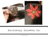 Eco-Friendly Poinsettia PinTutorial