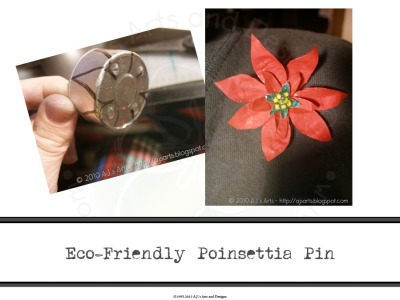 Eco-Friendly Poinsettia Pin