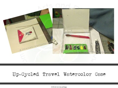 Up-cycled Travel Watercolor Case