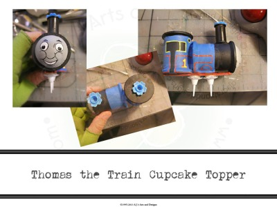 Thomas the Train Cupcake Topper