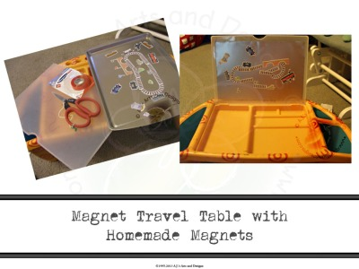 Magnet Travel Table with Homemade Magnets