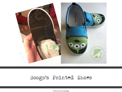 Booga's Painted Shoes