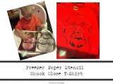 Freezer Paper Stencil Chuck CloseT-Shirt