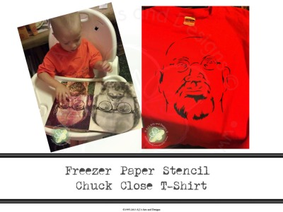 Freezer Paper Stencil Chuck Close T-Shirt