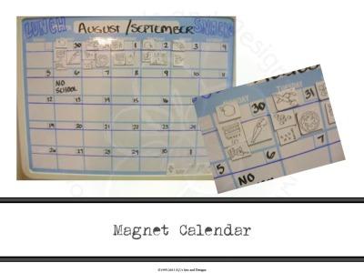 Magnet Calendar