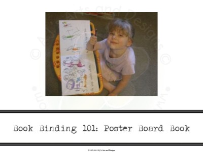 Book Binding 101: Poster Board Book