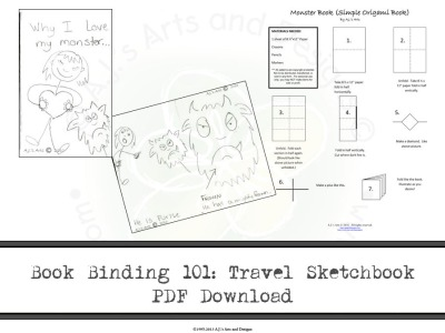 Book Binding 101: Travel Sketchbook PDF Download