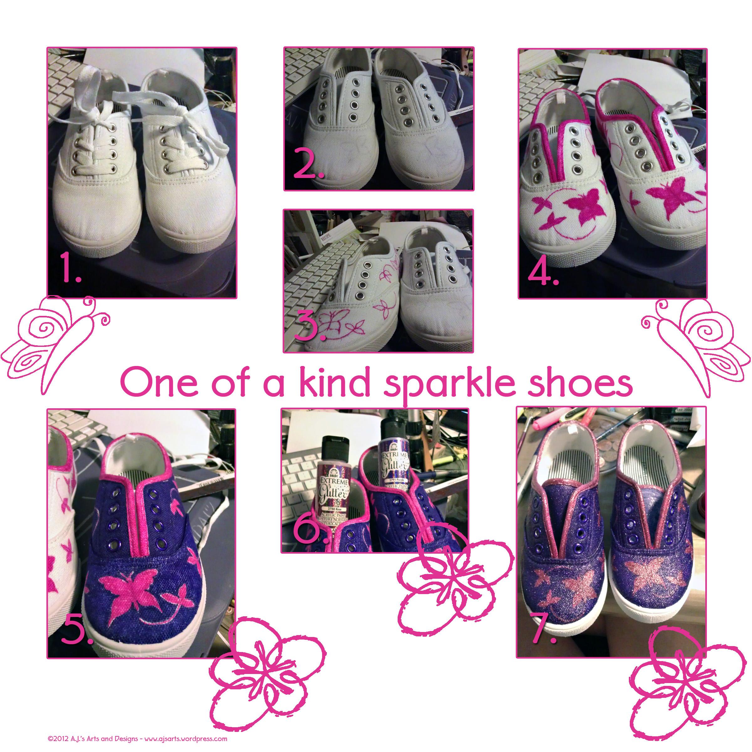 Purple Canvas Shoes Womens