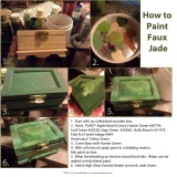 How to Paint Faux Jade on a Wooden Box