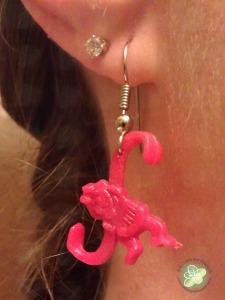 Finished Monkey Earrings