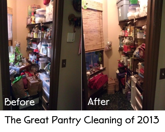 The pantry before and after