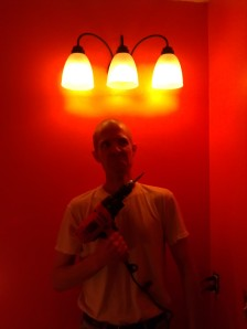 Jeff very proud of his accomplishment (so was I we have light!)