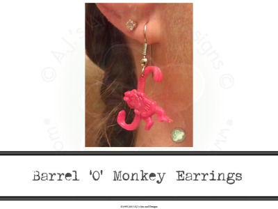 Barrel O Monkey Earrings