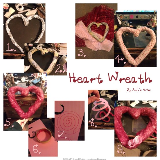 Heart Wreath How To