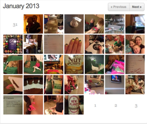 Here is my month of January 2013 for the 365 Project