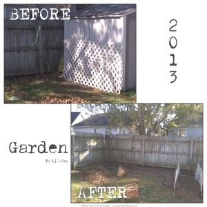 Before and After My Garden 2013