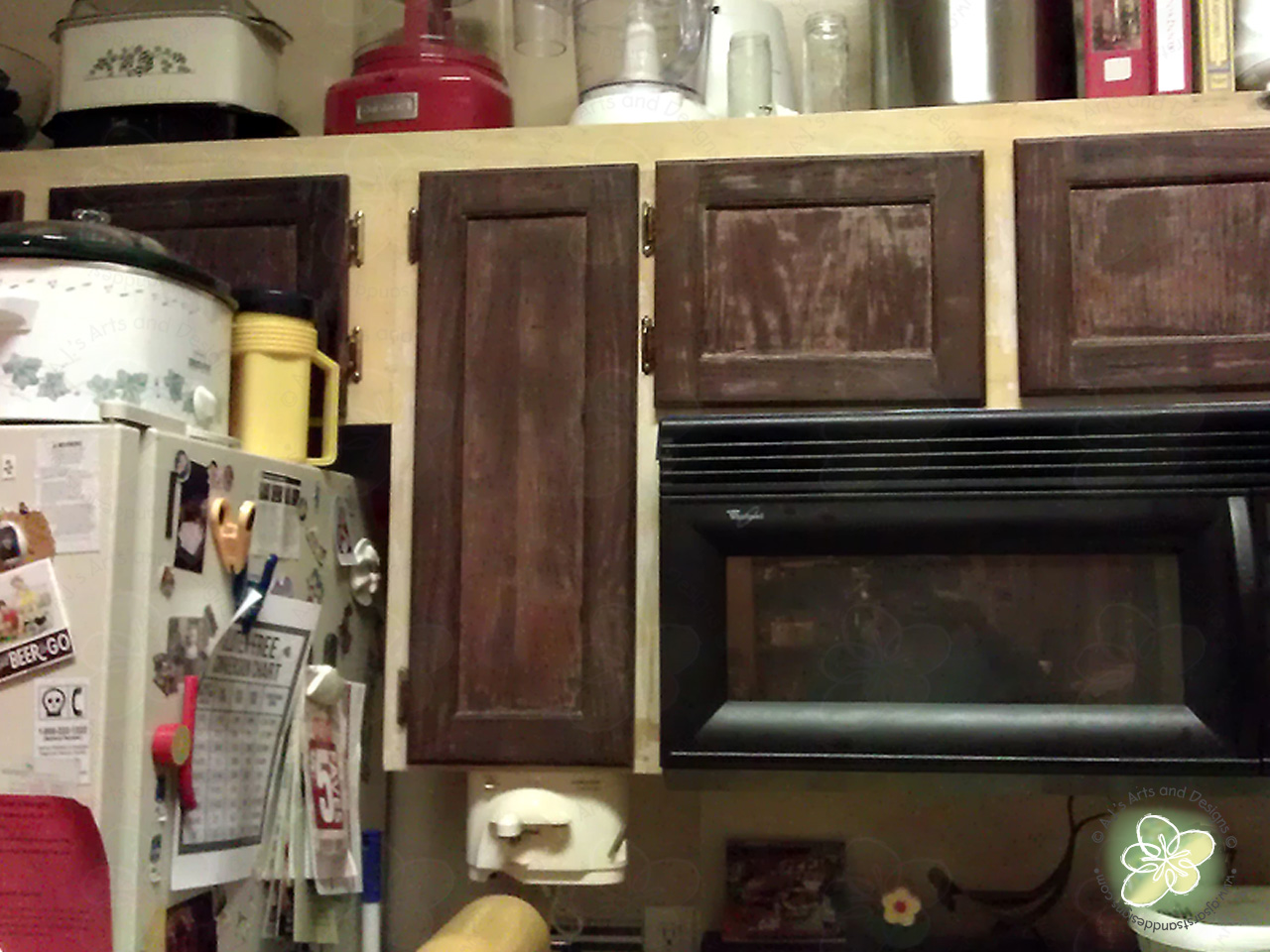 Painting Crappy Cabinets White Refurb