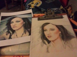 I did make progress on my colored pencil drawing