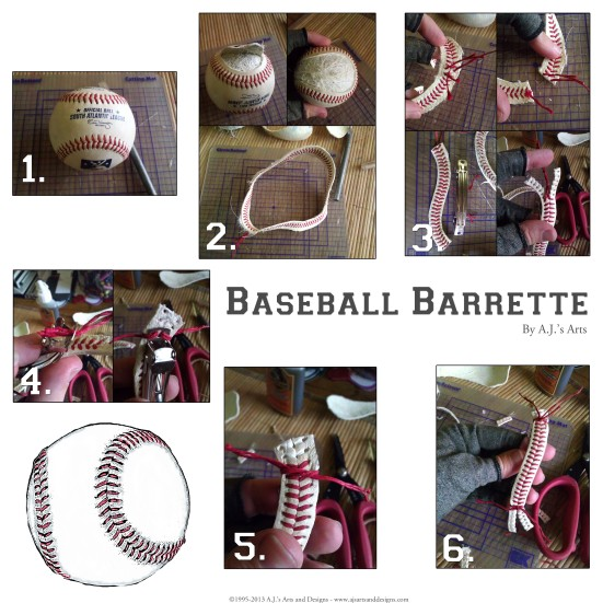 Baseball Barrette How To