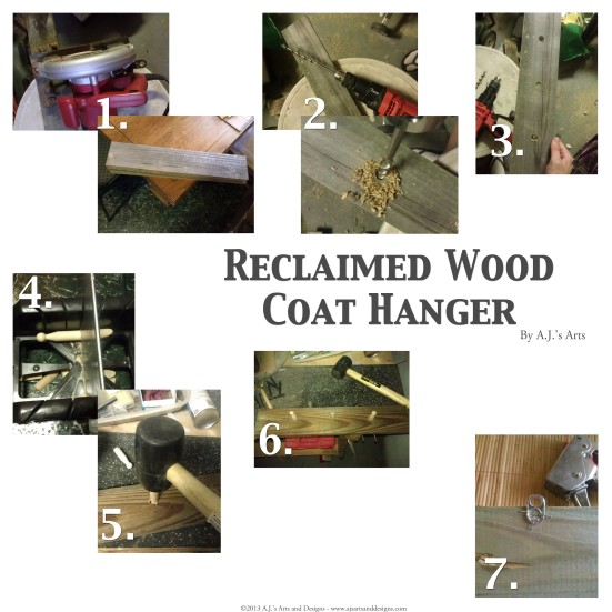 Reclaimed Wood Coat Hanger How-to