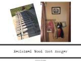Leslierahye's Earth Day Blog Hop – Reclaimed Wood CoatHanger
