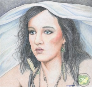 I also finished this colored pencil drawing (YAY me!)