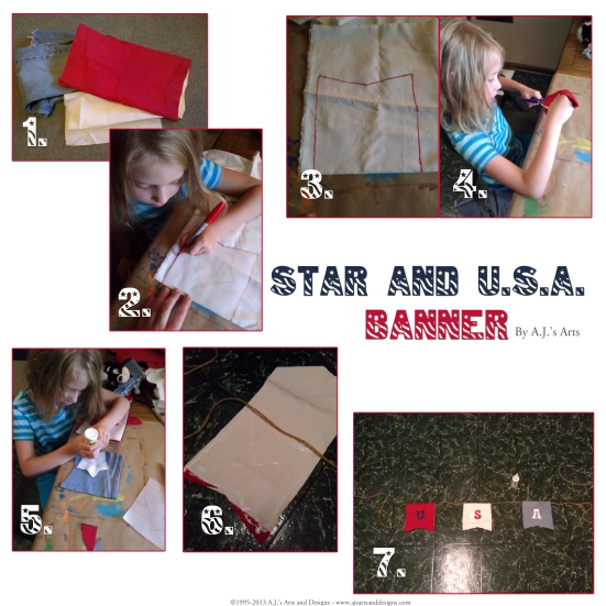 Star and USA Banner How to