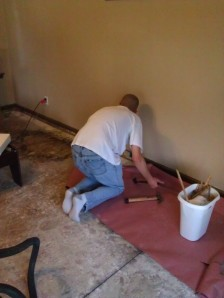 Removing the baseboards