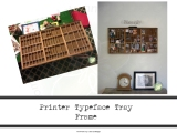 Printer Typeface Tray Frame