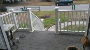 Light dusting on the porch