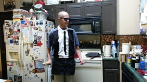 I made Jeff a Reservoir Dogs Apron for Christmas