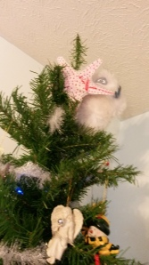 I also rigged Bumble as our Tree Topper