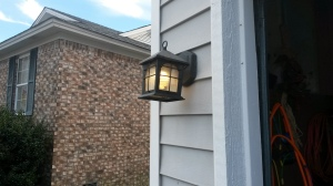 I also replaced the outside lights (only got zapped once).