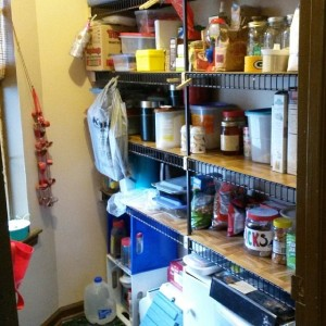 Our pantry is cleaned