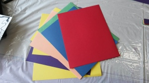 Rainbow Colored Cardstock