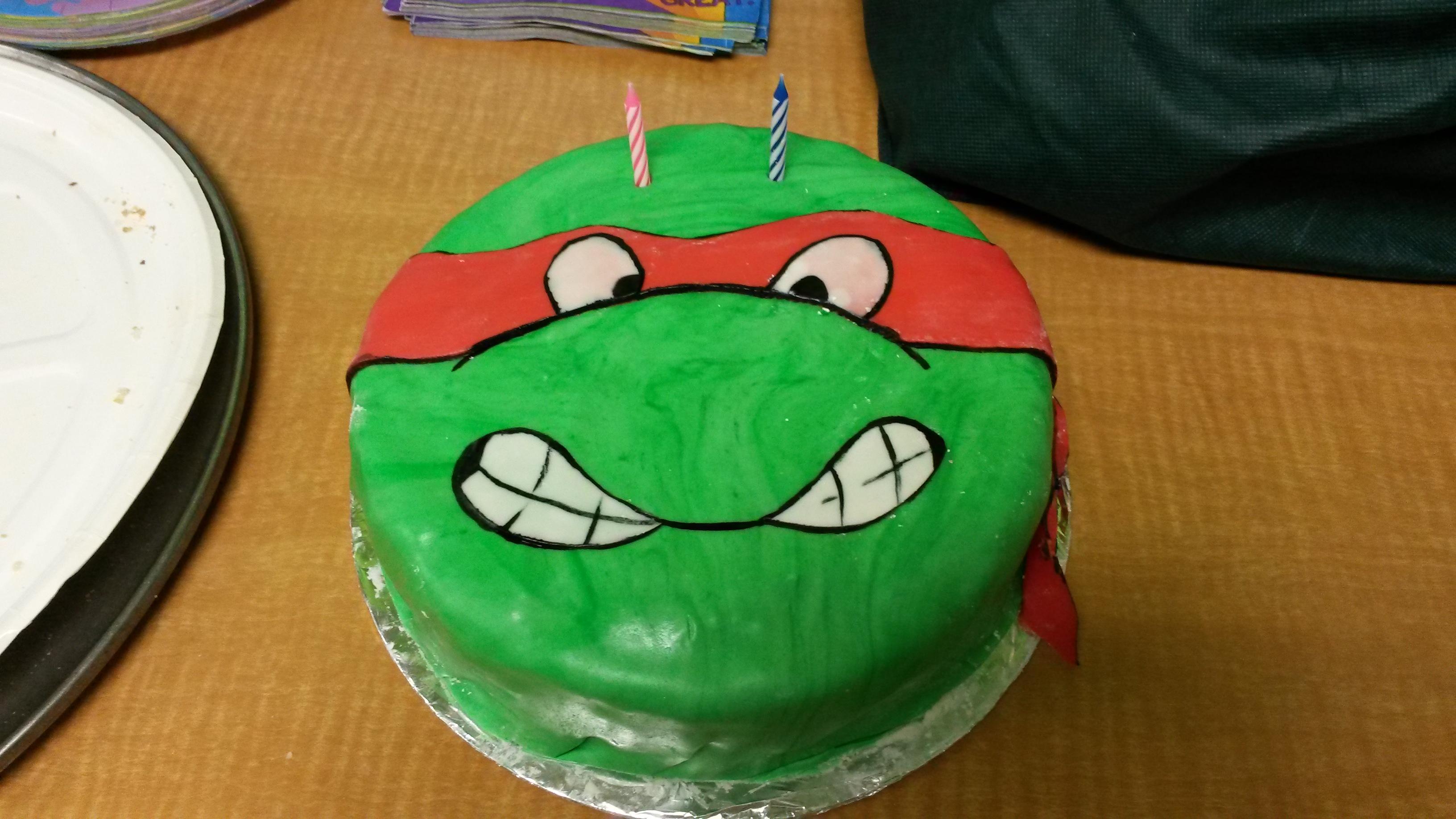 Teenage Mutant Ninja Turtle Cake Who Are You Calling Crafty