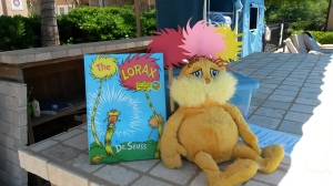 My little display with The Lorax for Earth Day.