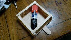 This was our last project for Girl Scouts this year.  A Bird Feeder made using Elmer's Extreme Glue.  I bought it because I was skeptical that it would work on wood.  It does and it is my new favorite glue.