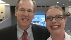 Mr. Jack Kingston was nice enough to trade my wall space for his seat.  I of course asked for a selfie.